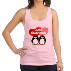 Just Married.png Racerback Tank Top