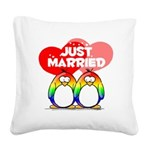 Just Married Rainbow2.png Square Canvas Pillow