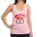 Just Married Rainbow2.png Racerback Tank Top