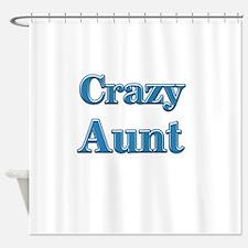 Crazy Aunt (blue) Shower Curtain