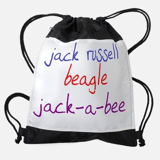 jackabee_black.png Drawstring Bag