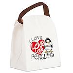I Love penguins2.jpg Canvas Lunch Bag