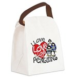 ILovePenguins2.jpg Canvas Lunch Bag