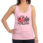 ILovePenguins2.jpg Racerback Tank Top