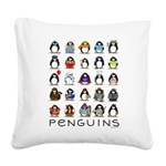 Lots of Penguins.png Square Canvas Pillow