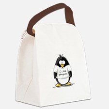 ILovePenguins.png Canvas Lunch Bag