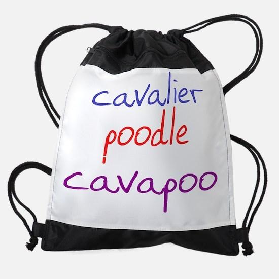 cavapoo_black.png Drawstring Bag