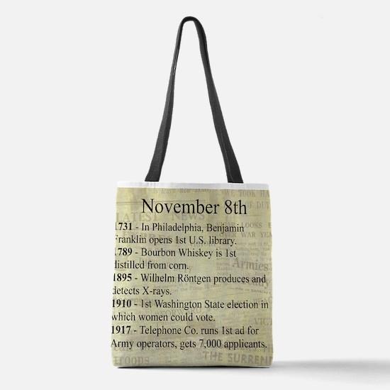 November 8th Polyester Tote Bag