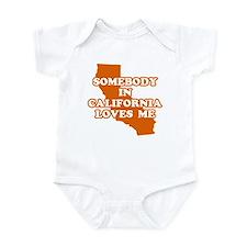 Somebody In California Loves Me Infant Bodysuit