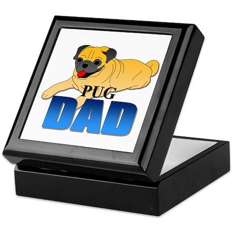 Fawn Pug Dad Keepsake Box