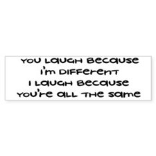 Different Bumper Bumper Sticker