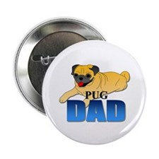"""Fawn Pug Dad 2.25"""" Button (100 pack)"""