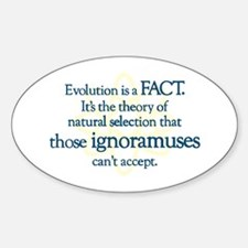 Evolution is a FACT Oval Decal