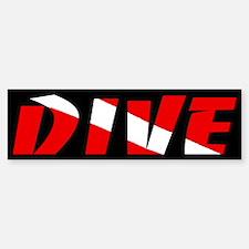 Just Dive Black Bumper Bumper Bumper Sticker
