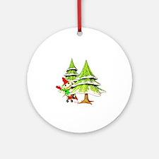 Waving Merry Christmas Ornament (Round)
