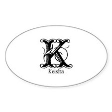 Keisha: Fancy Monogram Oval Decal