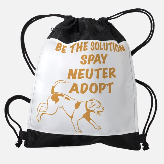 Running Dog - Adopt Drawstring Bag