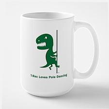 T-Rex Loves Pole Dancing Mug
