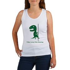 T-Rex Loves Pole Dancing Women's Tank Top