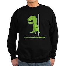 T-Rex Loves Pole Dancing Sweatshirt