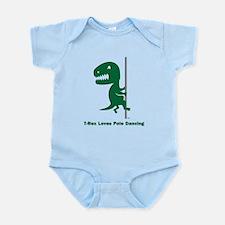 T-Rex Loves Pole Dancing Infant Bodysuit