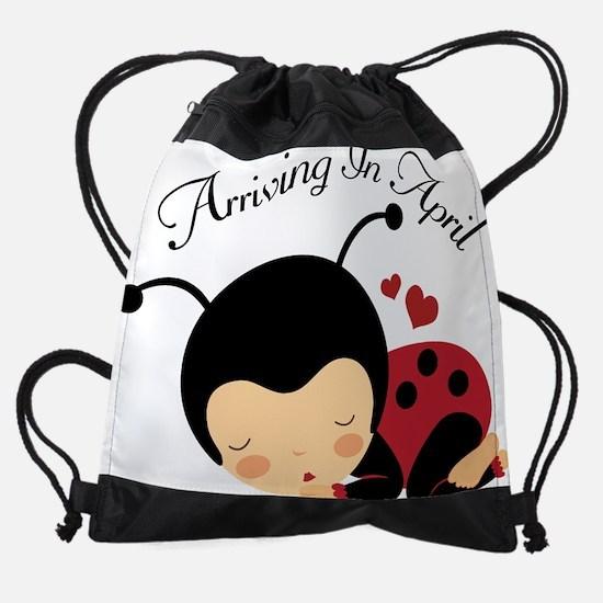 Pregnancy April Due Date Ladybug Drawstring Bag