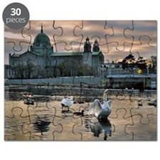 Galway Cathedral and swans Puzzle