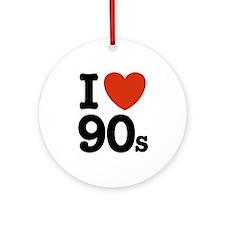 I Love 90s Ornament (Round)