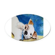 Jack Russell Terrier Junior Oval Car Magnet