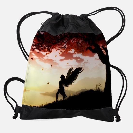 Angel at Dawn Drawstring Bag