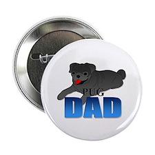 "Black Pug Dad 2.25"" Button (100 pack)"