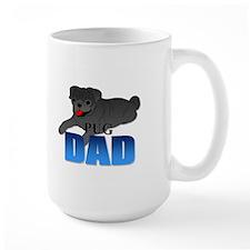 Black Pug Dad Mug