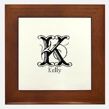Kelly: Fancy Monogram Framed Tile
