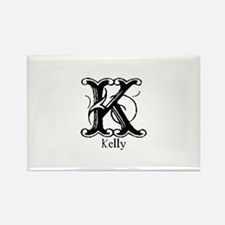 Kelly: Fancy Monogram Rectangle Magnet