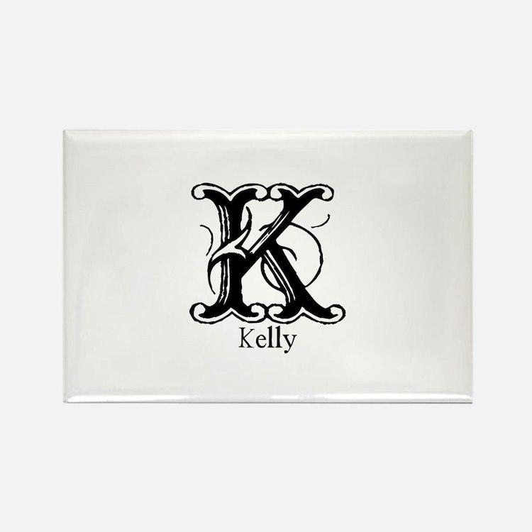 Kelly: Fancy Monogram Rectangle Magnet