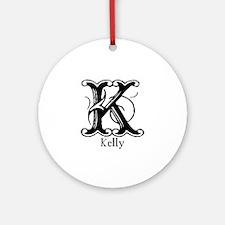 Kelly: Fancy Monogram Ornament (Round)