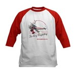 Lady wingwalker on bi-plane Kids Baseball Jersey