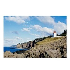 Rocky shoreline with ligh Postcards (Package of 8)