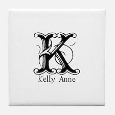 Kelly Anne: Fancy Monogram Tile Coaster