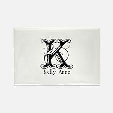 Kelly Anne: Fancy Monogram Rectangle Magnet