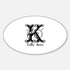 Kelly Anne: Fancy Monogram Oval Decal