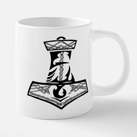 Black Celtic Thors Hamm Stainless Steel Travel Mug