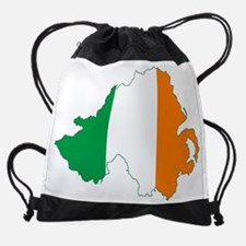 Northern Ireland (Map with Tri-Colo Drawstring Bag