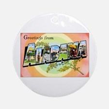 Alabama Greetings Ornament (Round)