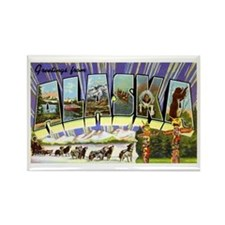 Alaska Greetings Rectangle Magnet