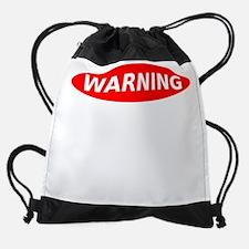 May Contain Champagne Warning Drawstring Bag