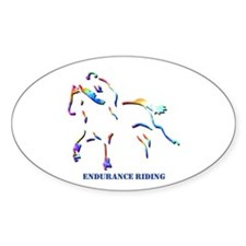 Endurance Riding Oval Decal