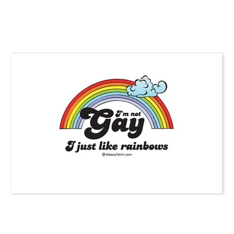 I'm not gay. I just like rainbows. Postcards (Pack