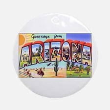 Arizona Greetings Ornament (Round)