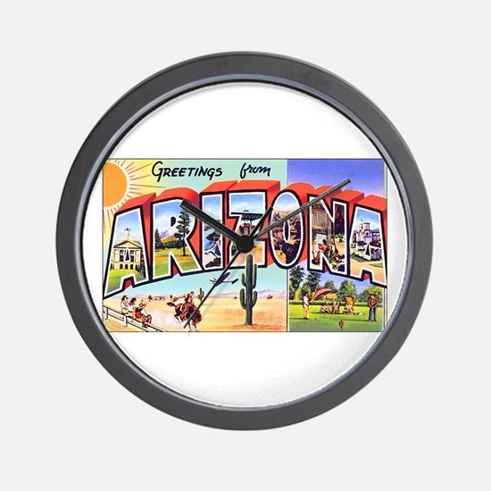 Arizona Greetings Wall Clock
